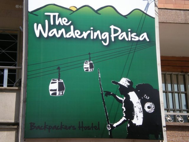You'll know when you're standing outside The Wandering Paisa. You can't miss the sign.