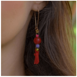 Oriental style earrings.