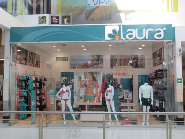 Laura, one of several lingerie stores