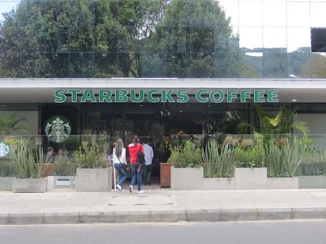 Starbucks in Bogotá – the first store in Colombia