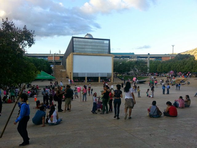 The Planetarium within the perimeter of the plaza.