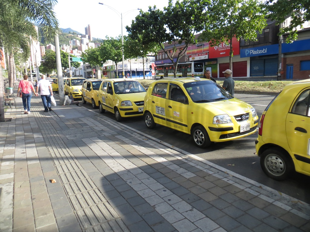 Taxis lined up at Premium Plaza mall