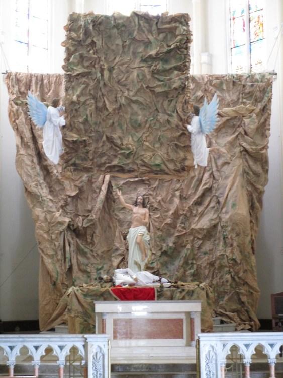 The main altar inside the church