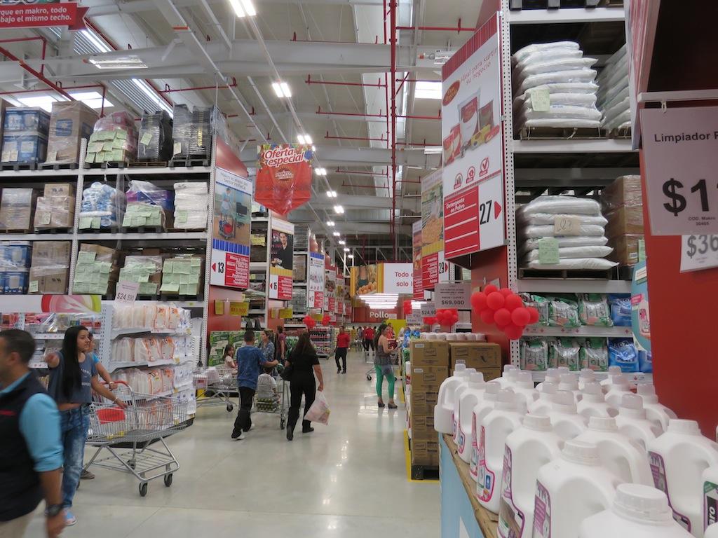 Inside the new Makro store in Medellín