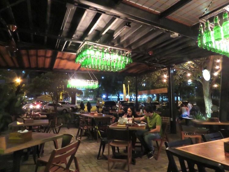 Inside the Villero restaurant at Contenedores