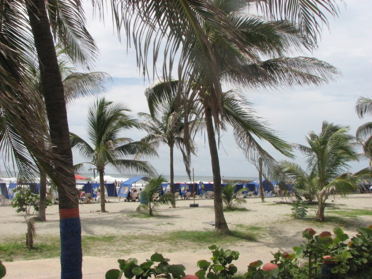 One of the beaches in Cartagena