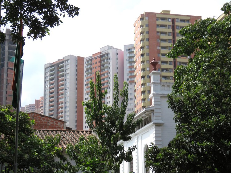 Apartment buildings in Sabaneta