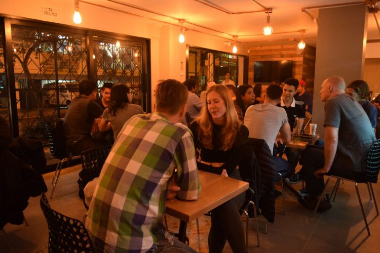 Small groups and a café vibe at the Toucan language exchange