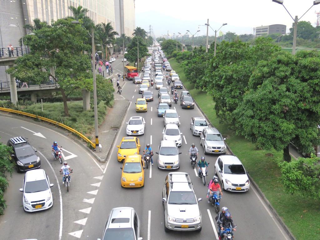 Traffic in Medellín