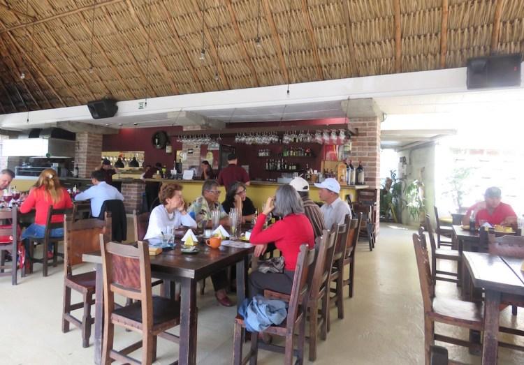 Inside Mama Santa at lunch