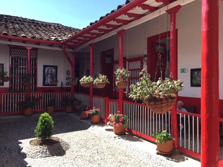 Interior Courtyard of Hotel La Casona