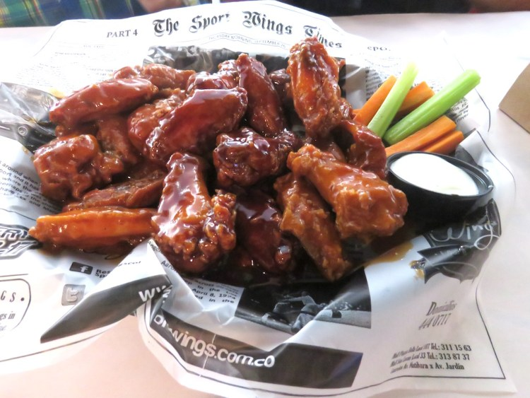 Wings at Sport Wings, with 14 different sauces to choose from