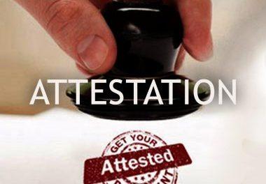 Embassy attestation