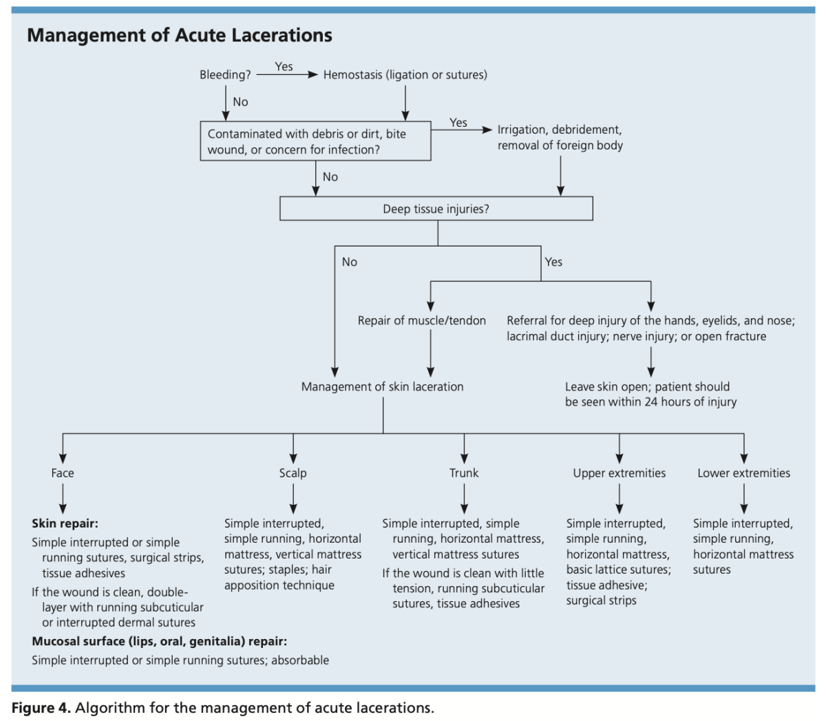Management, Evaluation and Repair of Laceration