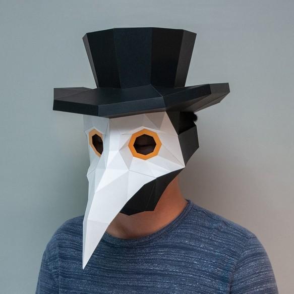 DIY手作3D紙模型擺飾 禮物 頭套 面具系列 - 瘟疫醫生鳥嘴面具 其他生活雜貨 問創 Ask Creative 的作品|Creemaー ...