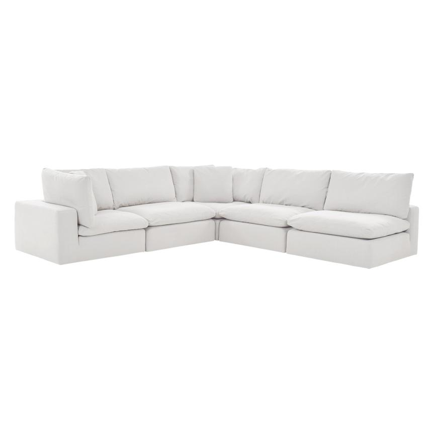 nube ii white sectional sofa
