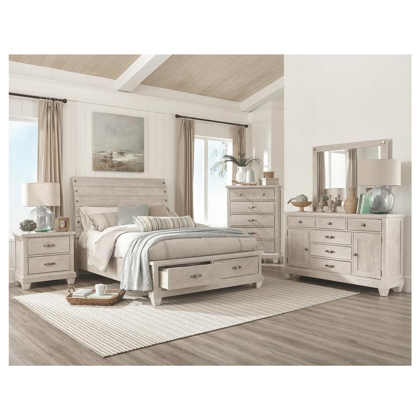 hamilton white queen storage bed