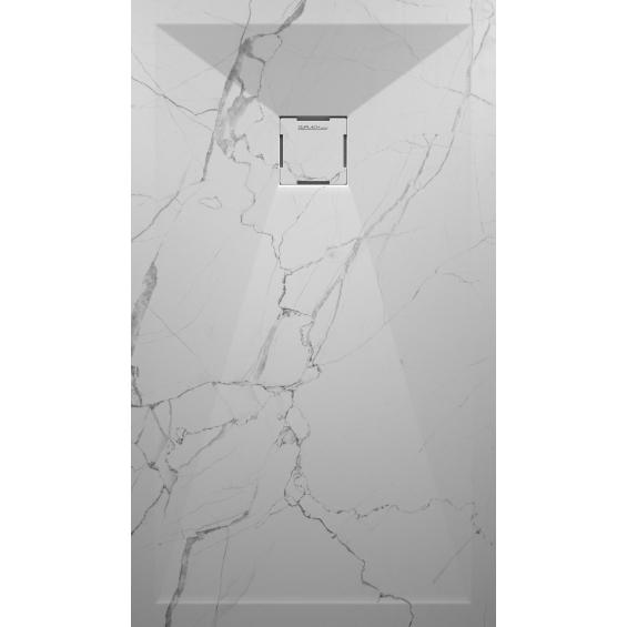 receveur marbre blanc extraplat