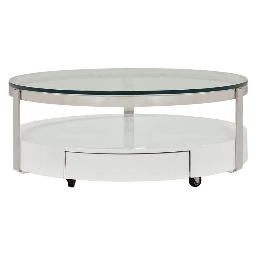 cali round coffee table w casters