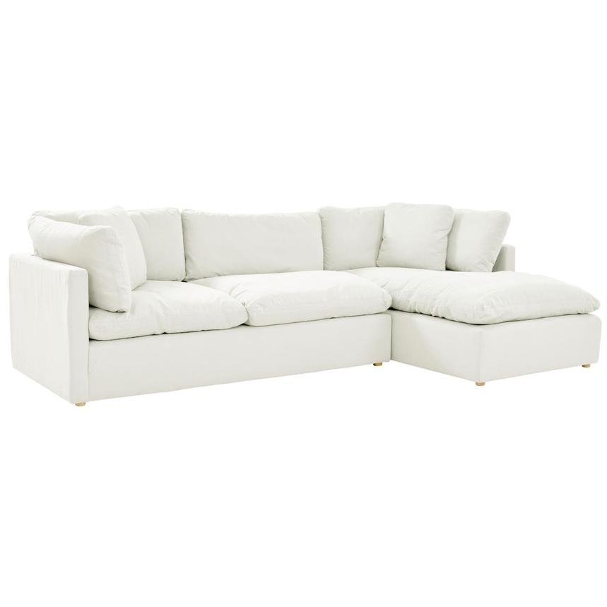 neapolis white corner sofa w right chaise
