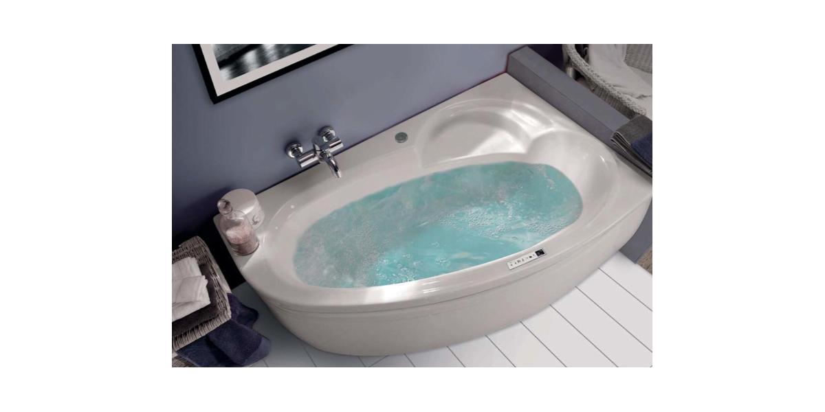 baignoire balneo ladiva asymetrique gauche