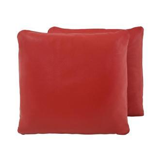 cute red accent pillow el dorado