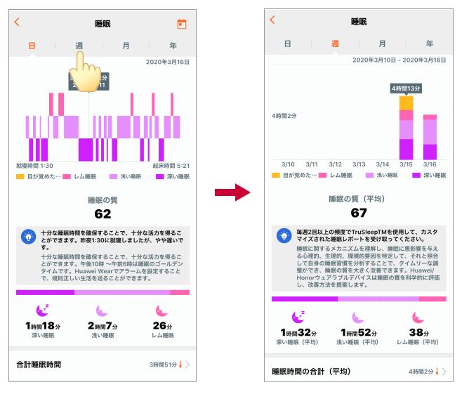 Huawei Band 4 睡眠
