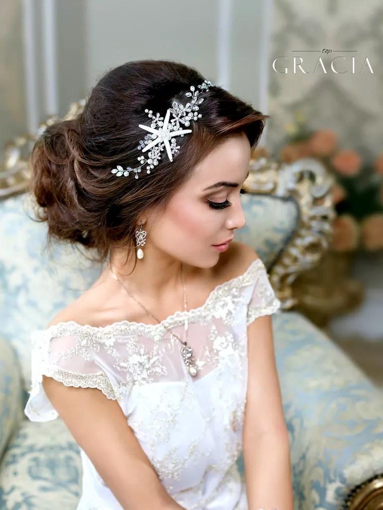 topgracia beach wedding hair accessories