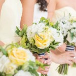 Yellow White And Green Bridesmaid Bouquets