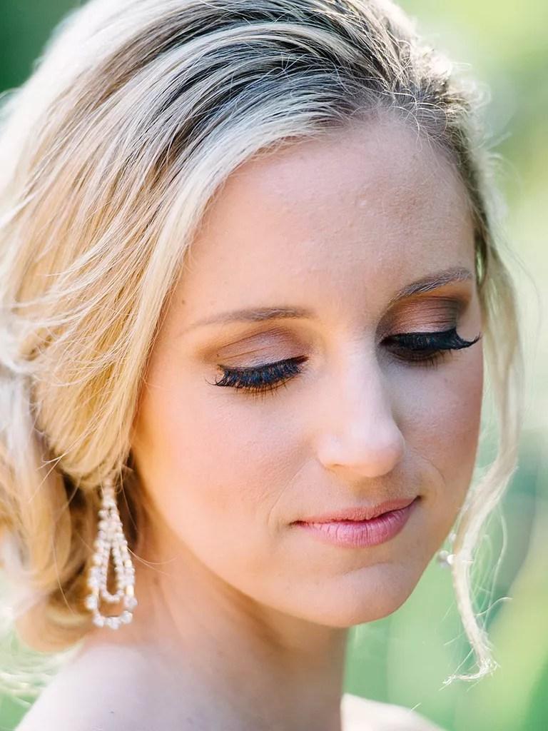 brown smokey eye wedding makeup for blue eyes