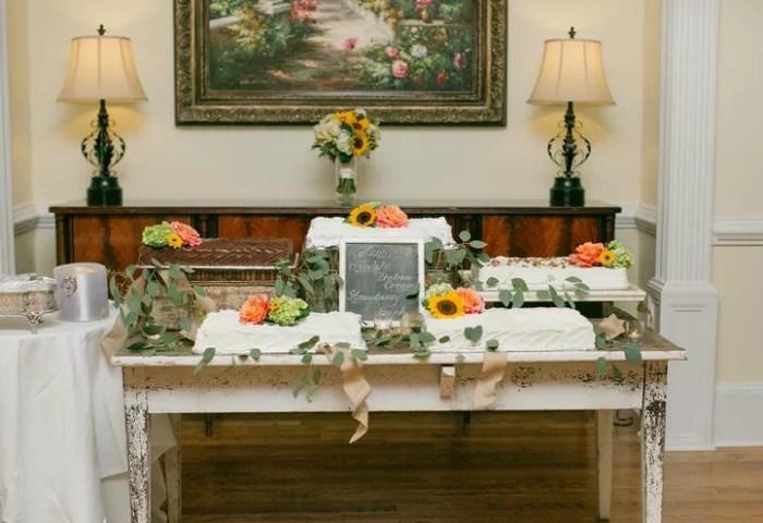 Buttercream Sheet Cake Table
