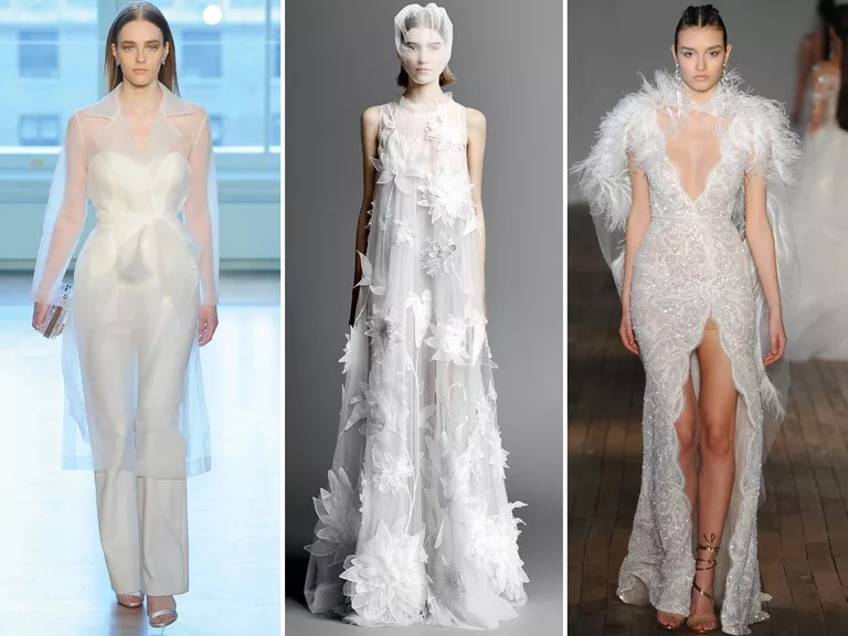 Top Wedding Dress Trends From Spring 2019 Bridal Fashion Week