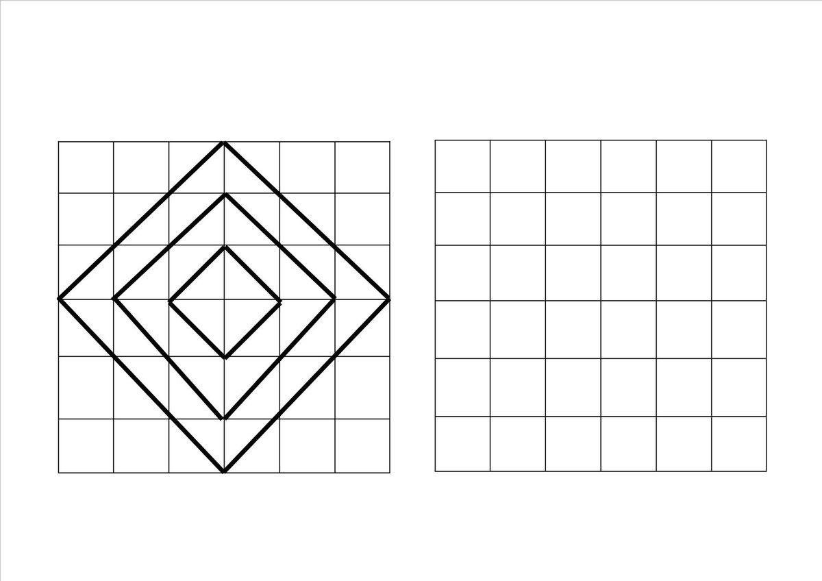 Atencion Simetrias Dibujos En Cuadricula Unir Puntos On