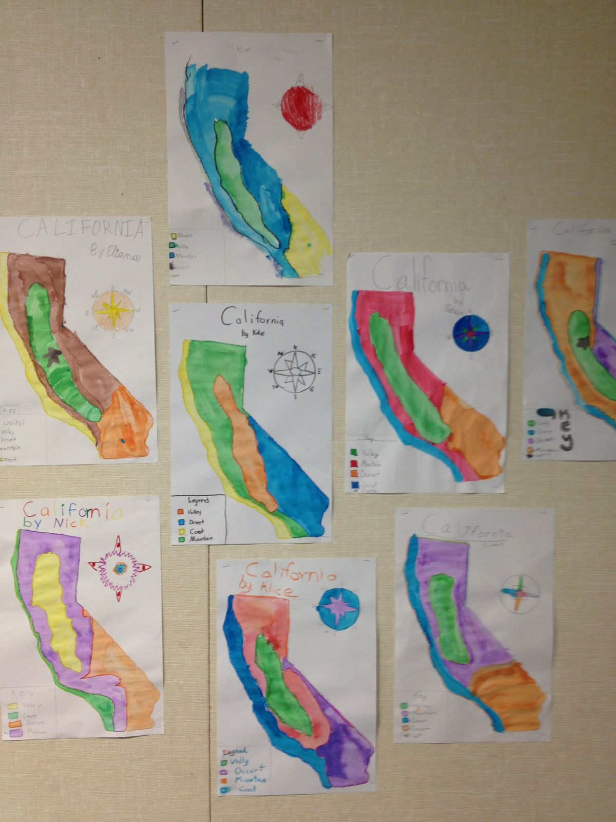 Images About 4th Grade California Relief Map On