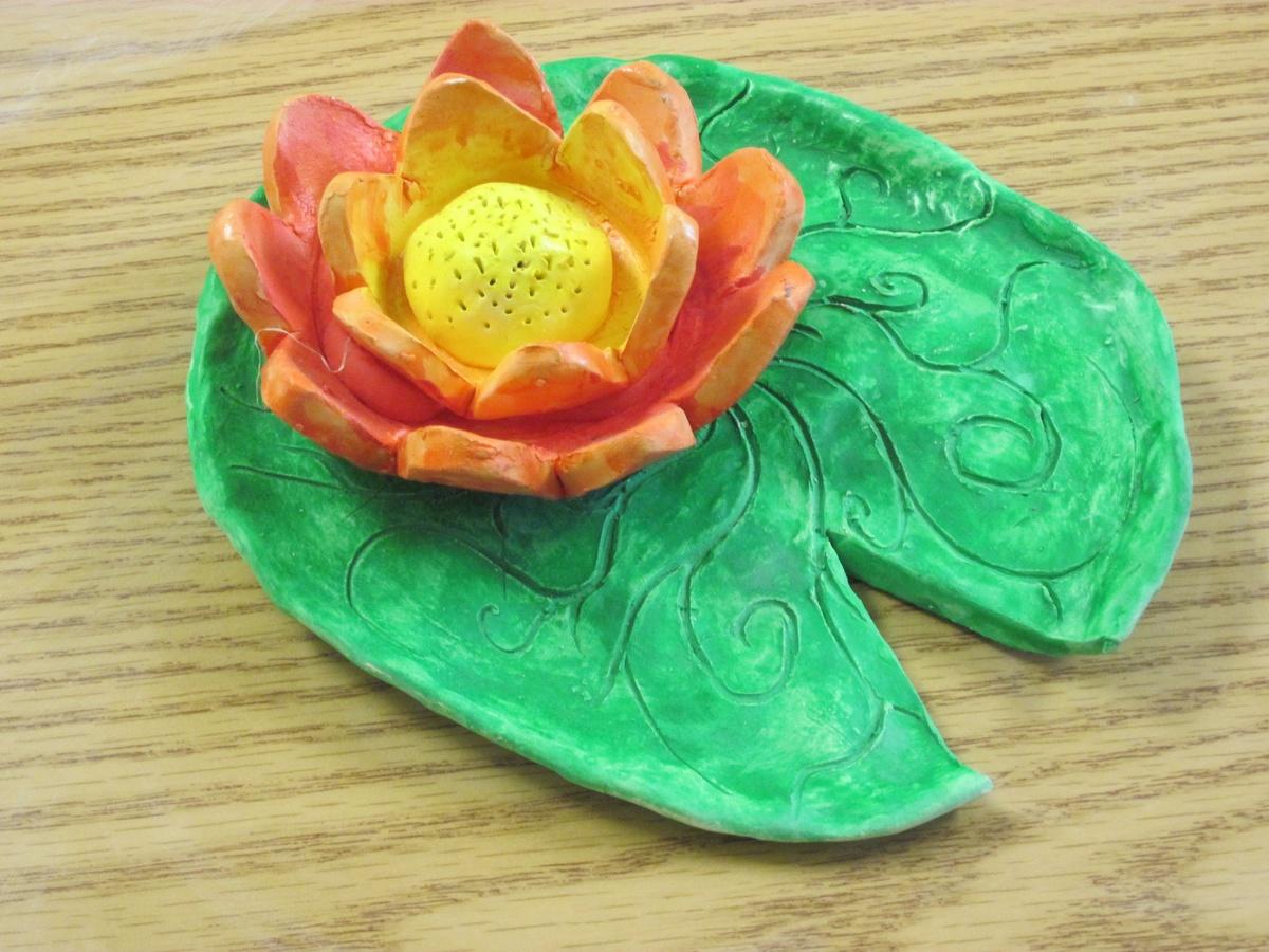 Lilypad Amp Lotus Flower Ceramics Lesson