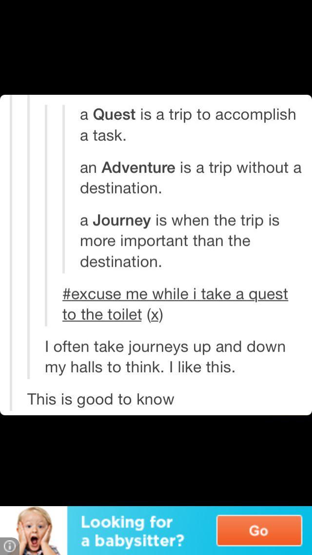Image result for quest journey definition