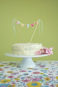 Fabric Bunting Cake Topper Tutorial With Hummingbird Cake Recipe
