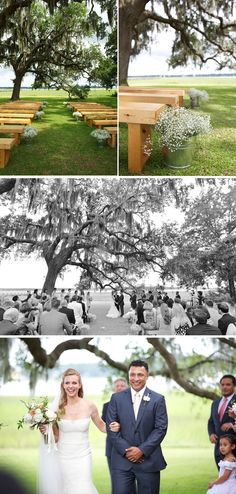 Summer backyard wedding via @WeddingWire photos by Donna Von Bruening