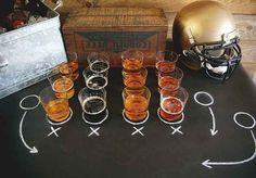 Set up your own beer tasting. | 31 Last-Minute Super Bowl Party Tips That Will Make Your Life Easier • FOOTBALL •PARTY•