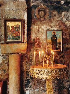 The sound of silence: An altar in the church in Pyrgos Dirou, on the Mani Peninsula in the Peloponnese.