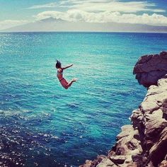 What i want to be doing right now! #summer #sea #jumping #inspiration #bumpkinbetty