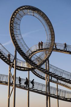 'Tiger & Turtle-Magic Mountain' - walkable outdoor sculpture. Visitors can rise by more than 45 m/49yd above level of landscape