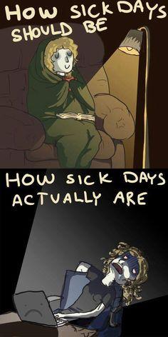 Teacher sick days.... so very true!