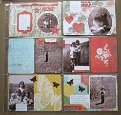Ariane Stamps: old family photo's.....project life, Stampin' Up!, stamping, die cuts, scrapbooking