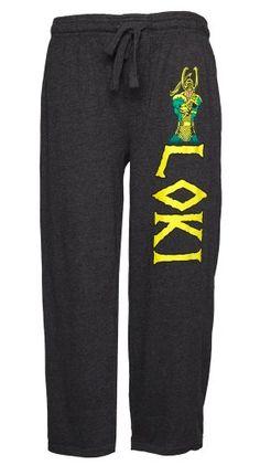 Marvel Comics Loki Lounge Pants - http://geekarmory.com/marvel-comics-loki-lounge-pants/