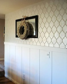 Stenciled wall paint