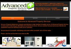 ADVANCED PROPERTY SERVICES LOWESTOFT Builders,Plumbers,Electricians,Carpenters, Website Builders Frontlineweb.biz