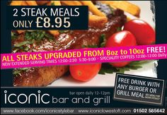 Great Steaks Great Value lowestoft  Iconic