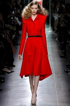 Bottega Veneta knee length red dress Autumn/Winter 2013-14