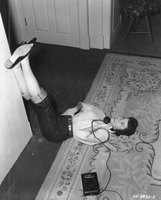 The odd positions we would lay in on the floor when talking on the phone.